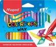 Zsírkréta Maped Color`Peps Wax 18 különböző szín