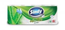Toalettpapír 3 rétegű 8+2 tekercses Sindy aloe vera #1