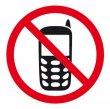 Információs matrica mobiltelefon használata tilos Apli