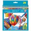 Színes ceruza készlet hatszögletű Connect 24 különböző szín