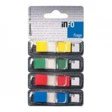 Jelölőcímke műanyag 4x36lap 43x12,5mm GLN transparens #1